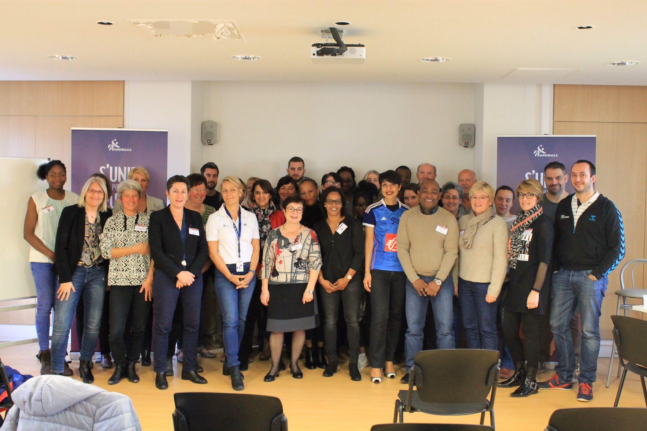 Participation de Christine Fabresse au séminaire du plan de féminisation de la Fédération Française de Handball
