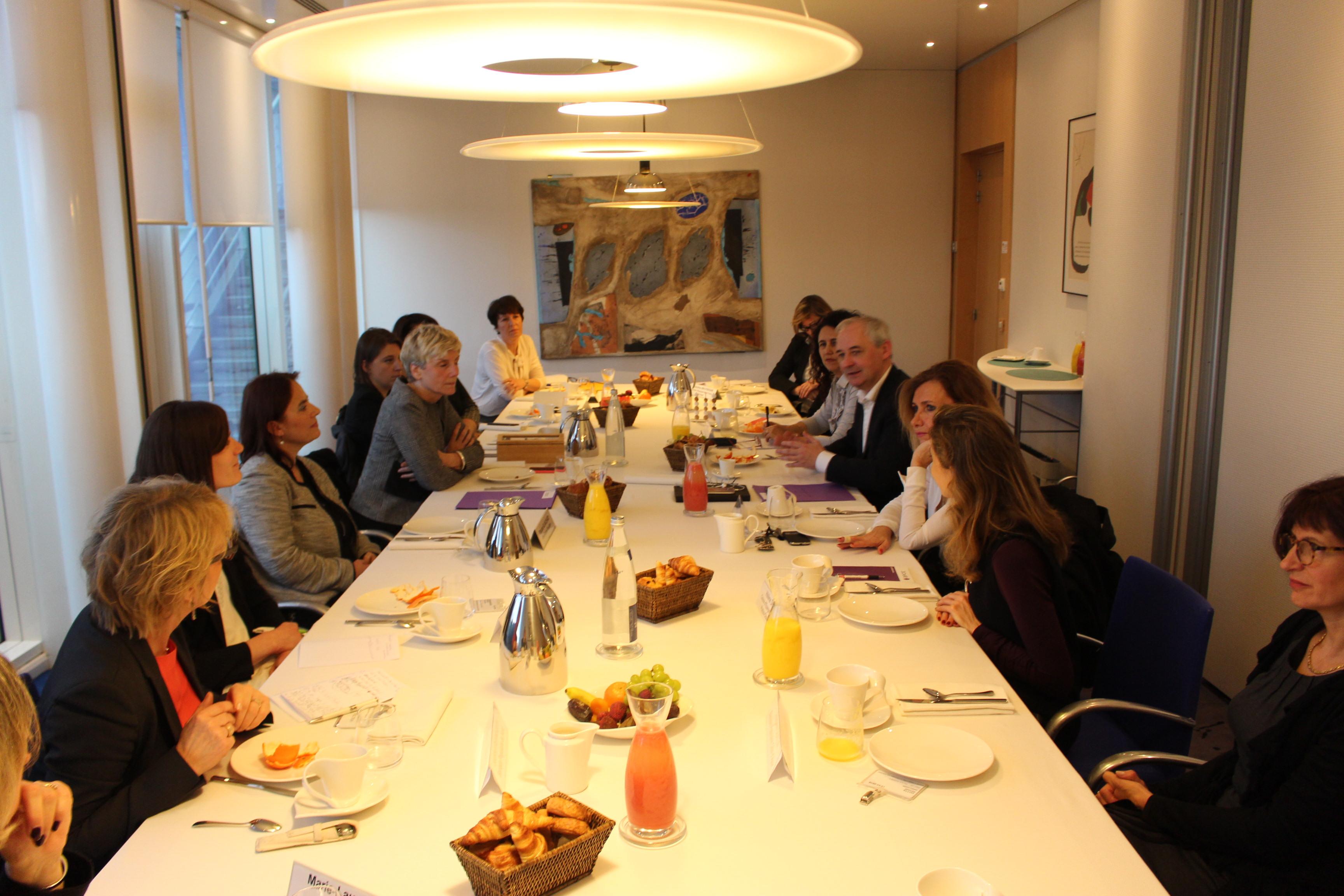 Petit déjeuner des Elles du Groupe BPCE en présence de François Pérol
