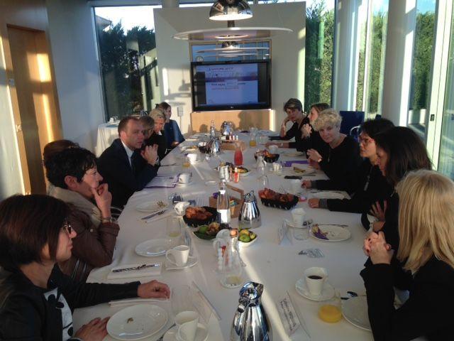 Petit déjeuner des Elles du Groupe BPCE en présence de Laurent Roubin