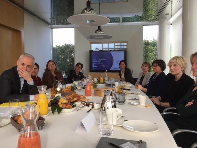 Petit-déjeuner des elles du Groupe BPCE en présence de François Pérol